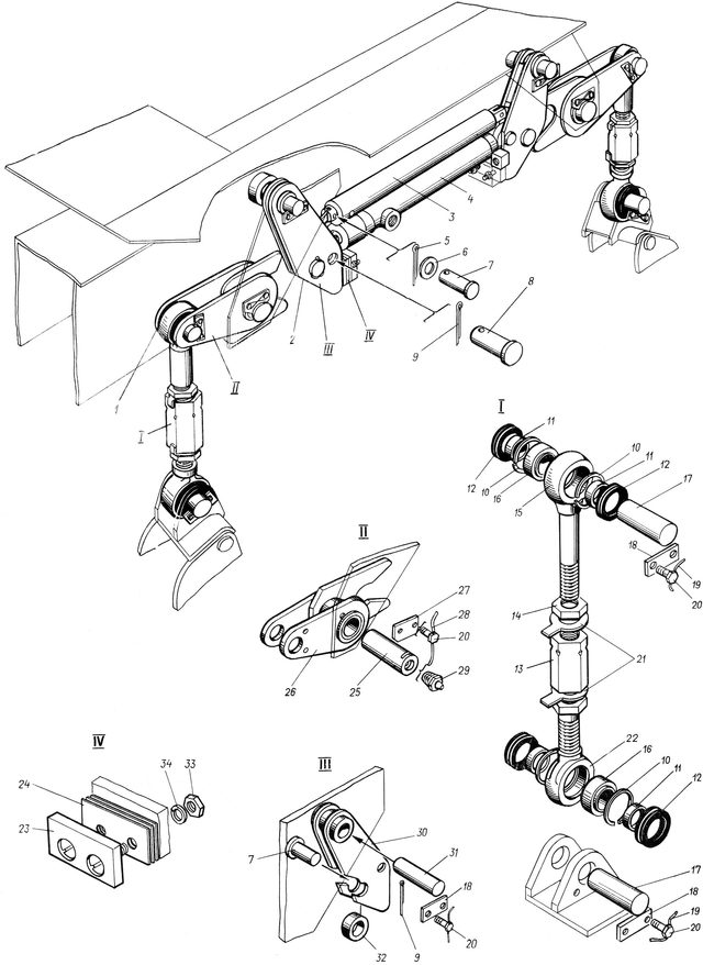Механизм блокировки дифференциала МТЗ-80