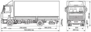 МАЗ 437130-332 Зубренок