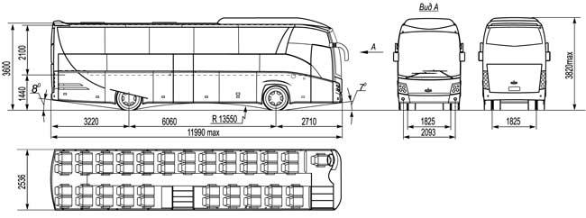 Схема Автобуса МАЗ 251050