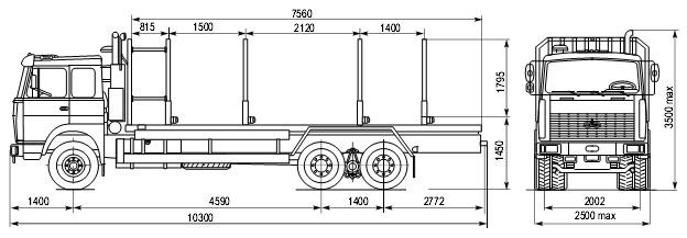 Схема МАЗ 6303А8-326