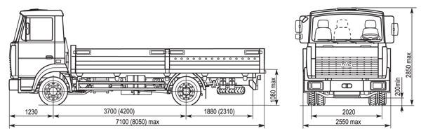 Схема МАЗ 437043-329 Зубренок