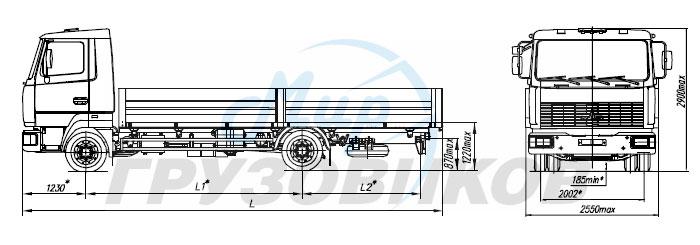Зубренок МАЗ 4371W1-428.