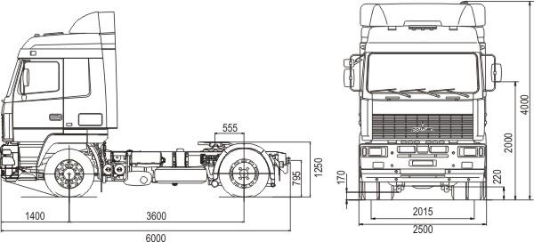 Седельный тягач МАЗ 5440А8-360-030