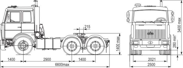 тягача МАЗ-6422А8-330